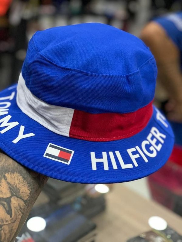 Bucket Hat Tommy Hilfiger Flag Royal Blue