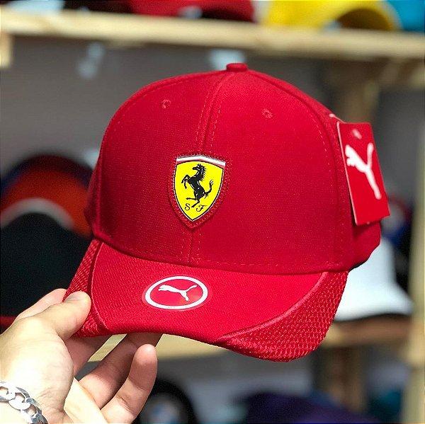 Cap Puma Scuderia Ferrari Red Aba Curva