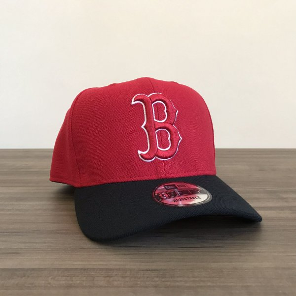 Cap New Era Boston Red Sox Red Black Snapback Aba Curva