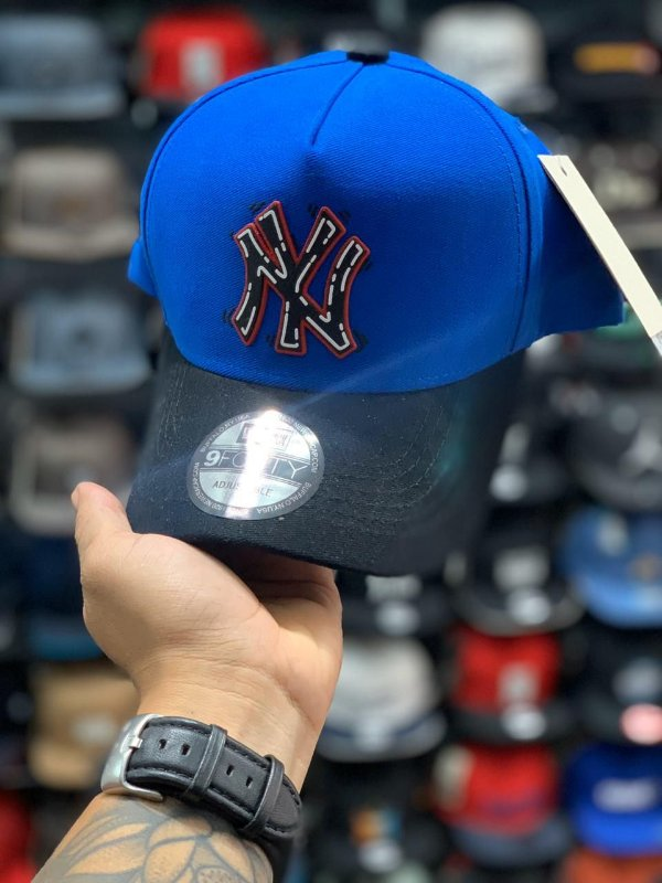 Cap New Era New York Yankees Tag Royal Blue Strapback Aba Curva