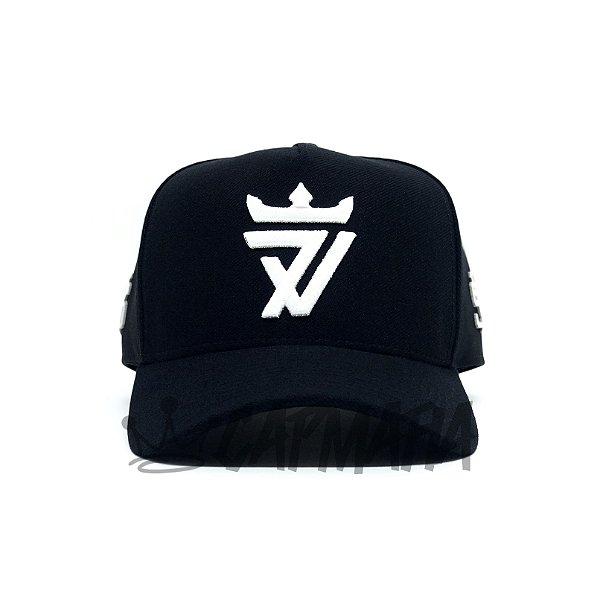 Cap Seven Brand Flex Black Snapback Aba Curva