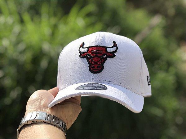 Cap New Era Chicago Bulls White Strapback Aba Curva