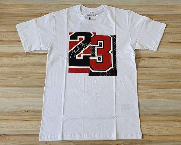 Camiseta Manga Curta Jordan Brand 23 White