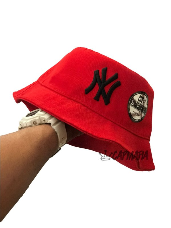 Bucket Hat New Era New York Yankees Red Black