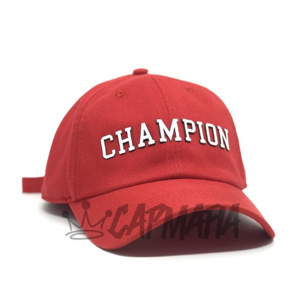 Cap Champion College Red Strapback Aba Curva