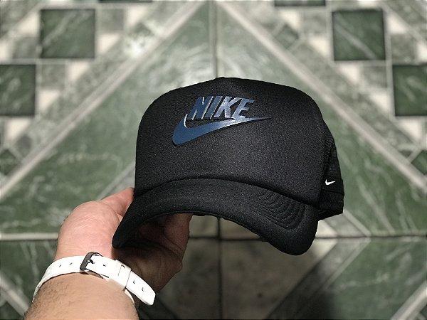 Cap Nike Brand Black Trucker Aba Curva