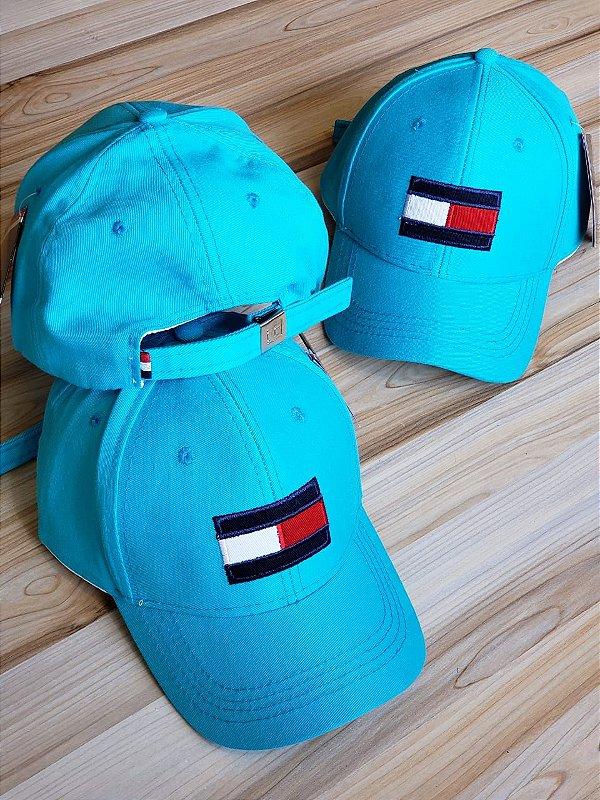 Cap Tommy Hilfiger Flag Blue Sky Strapback Aba Curva