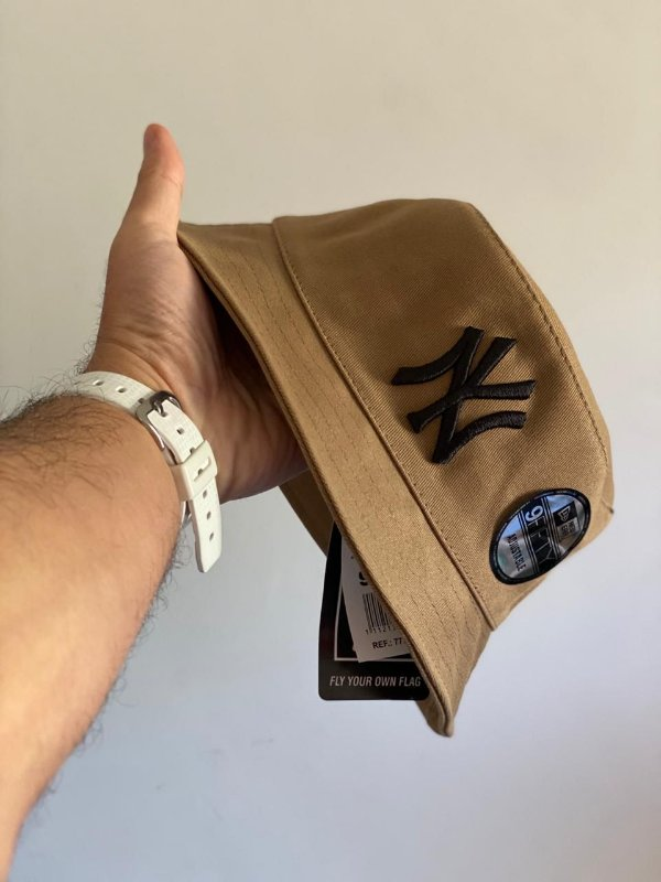Bucket Hat New Era New York Yankees Khaki