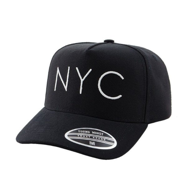 Cap Young Money New York City Black Snapback Aba Curva