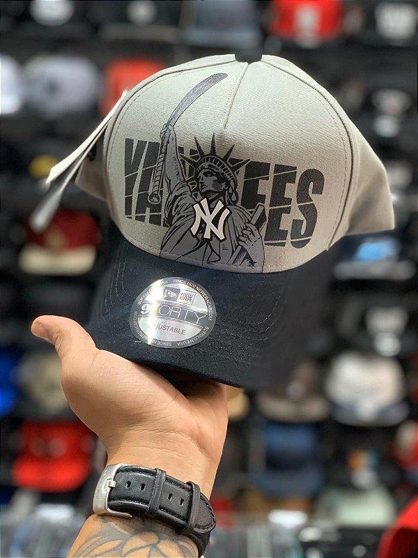 Cap New Era New York Yankees Liberty Grey Strapback Aba Curva