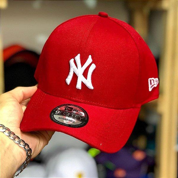 Cap New Era New York Yankees Red Strapback Aba Curva