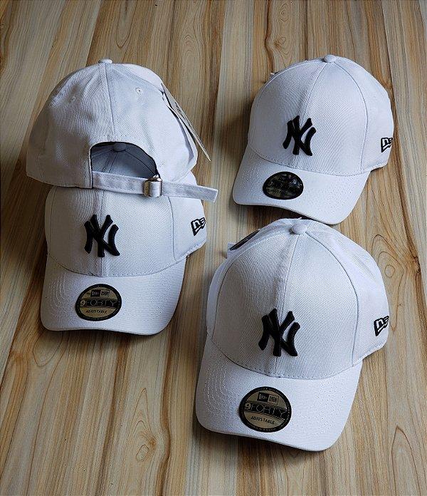 Cap New Era New York Yankees White Strapback Aba Curva