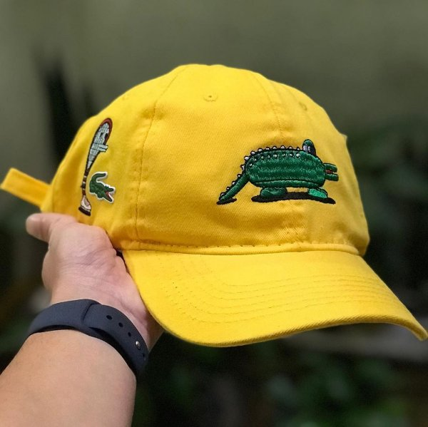 Cap Lacoste Jeremyville Design Yellow Strapback Aba Curva