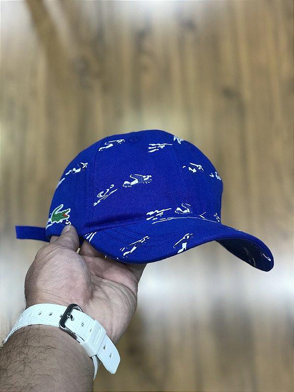 Cap Lacoste Fly Royal Blue Strapback Aba Curva