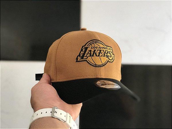 Cap New Era Los Angeles Lakers Land Black Strapback Aba Curva