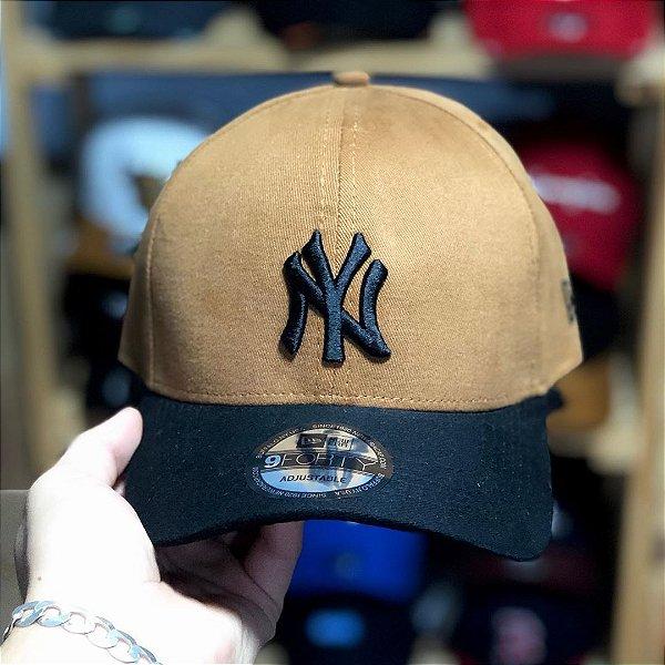 Cap New Era New York Yankees Caramel Black Strapback Aba Curva