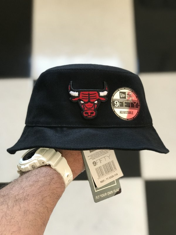 Bucket Hat New Era Chicago Bulls Black