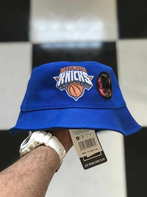 Bucket Hat New Era New York Knicks Royal Blue
