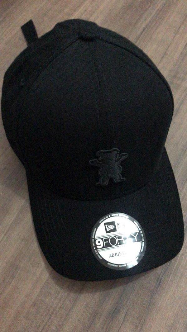 Cap Grizzly Griptape OG Bear All Black Strapback Aba Curva