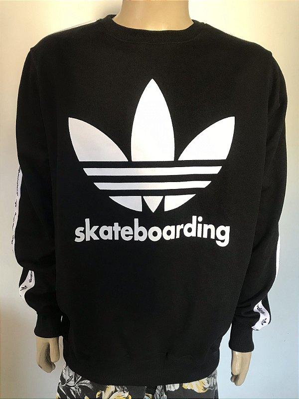 Blusa Moletom Adidas Skateboarding Black