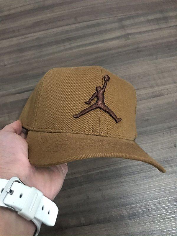 Cap Jordan Brand Jumpman Caramel Snapback Aba Curva