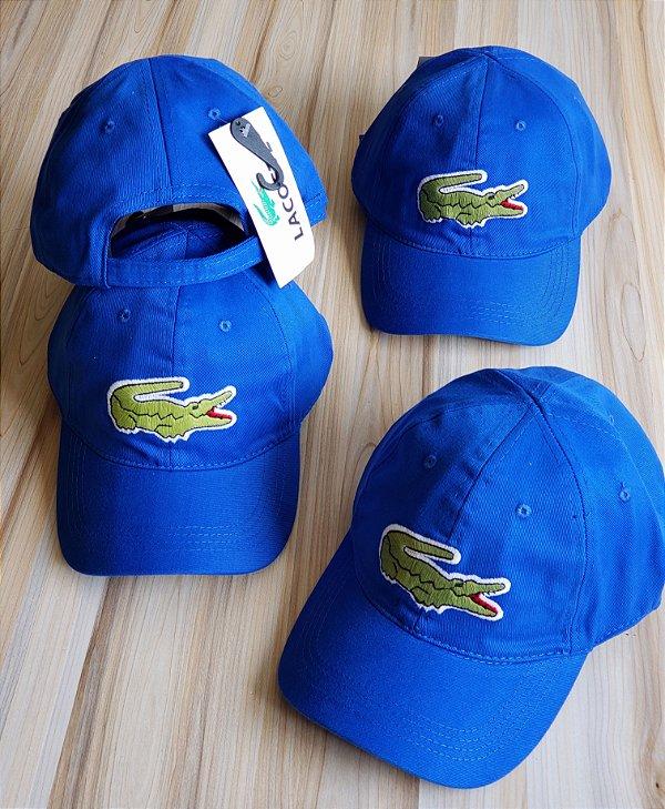 Cap Lacoste Big Croc Classic Royal Blue Strapback Aba Curva