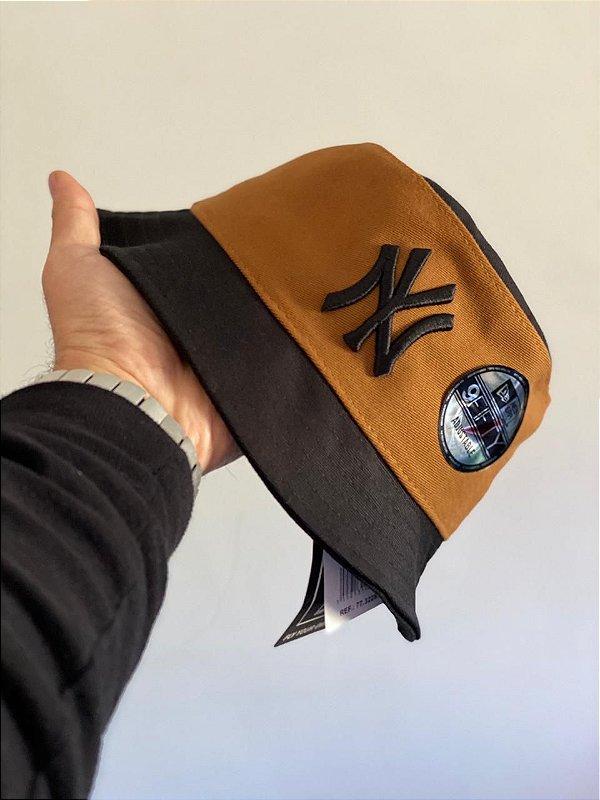 Bucket Hat New Era New York Yankees Caramel Black