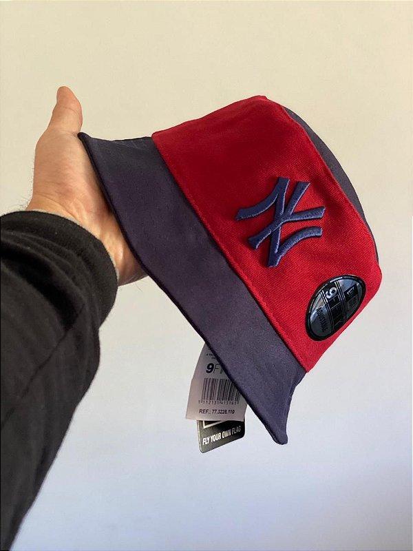 Bucket Hat New Era New York Yankees Wine Navy