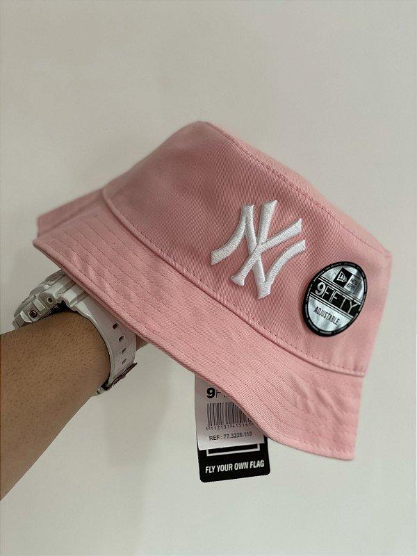 Bucket Hat New Era New York Yankees Rose White
