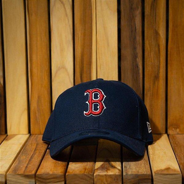 Cap New Era Boston Red Sox Navy Strapback Aba Curva