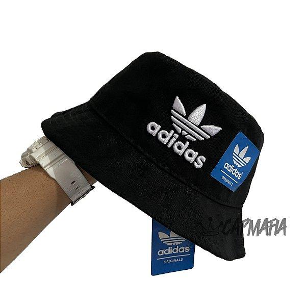 Bucket Hat Adidas Brand Black White