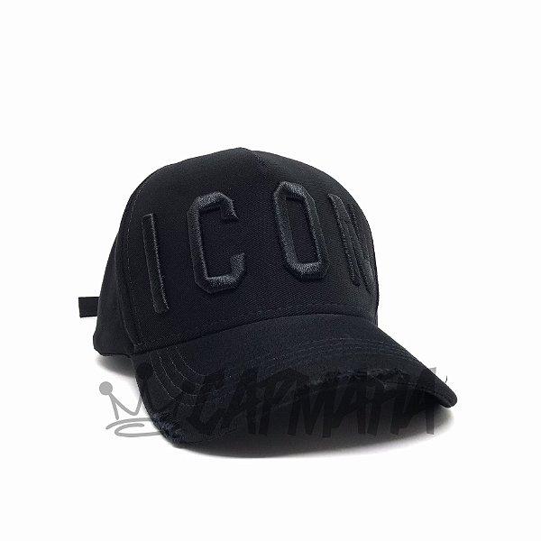 Cap Dsquared2 Icon Black Strapback Aba Curva