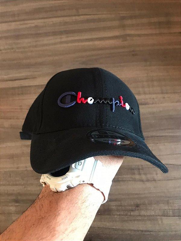 Cap Champion Class Black Colors Strapback Aba Curva