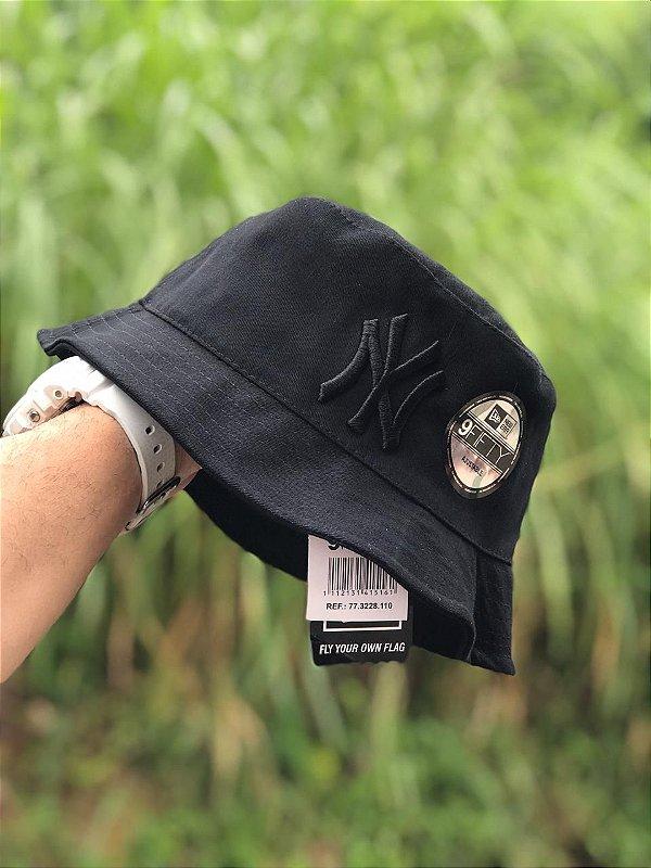 Bucket Hat New Era New York Yankees All Black
