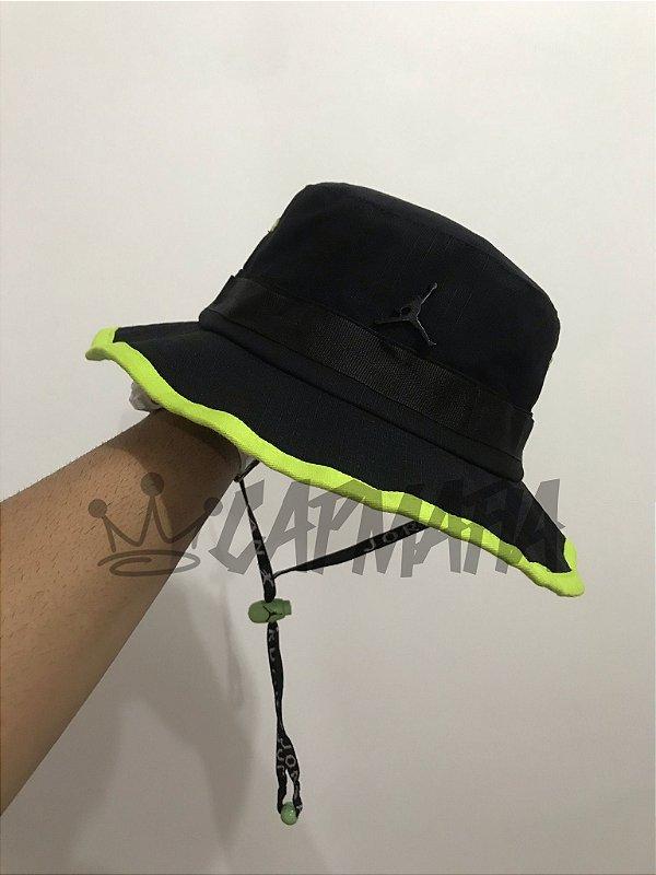 Bucket Hat Jordan Brand Jumpman Black Lemon