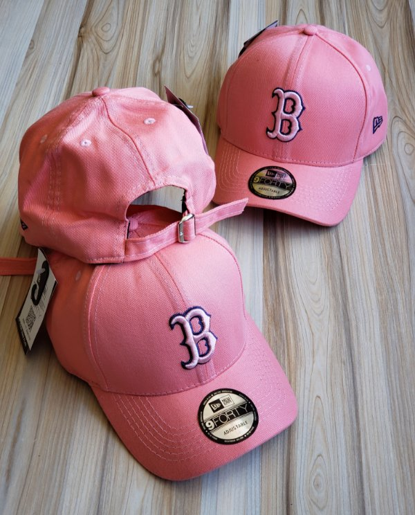 Cap New Era Boston Red Sox Rose Strapback Aba Curva
