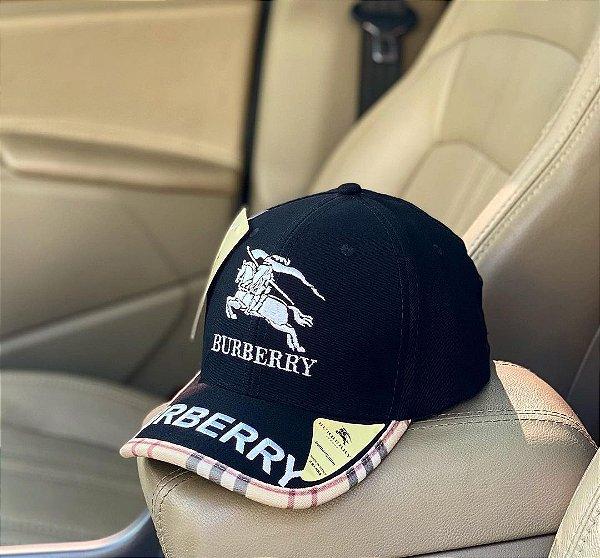 Cap Burberry Winged Black Strapback Aba Curva