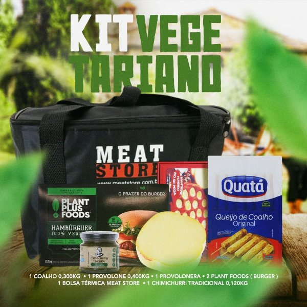 Kit Vegetariano com Bolsa Termica