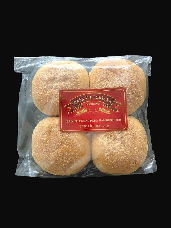 Pão para Burger Integral - Casa Victoriana - com 4 unidades