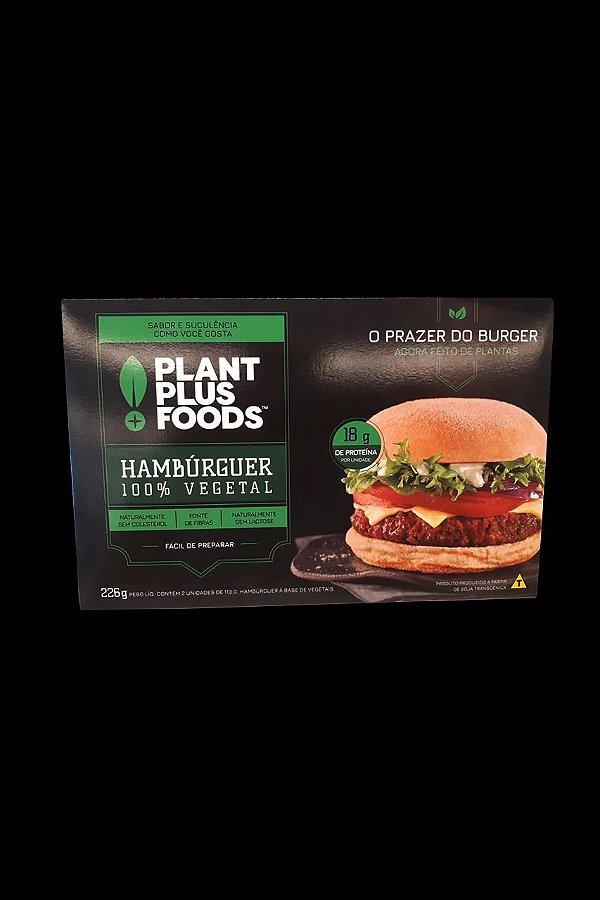 Hamburger 100% Vegetal Plant Foods 02 unidades 226g - Congelado