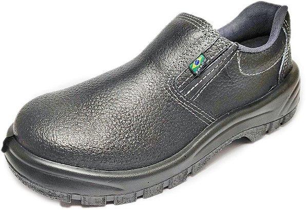 Sapato de Segurança de Couro e Elástico com Biqueira