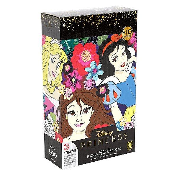 Quebra-Cabeça Princesas - Flores - 500 peças - Grow