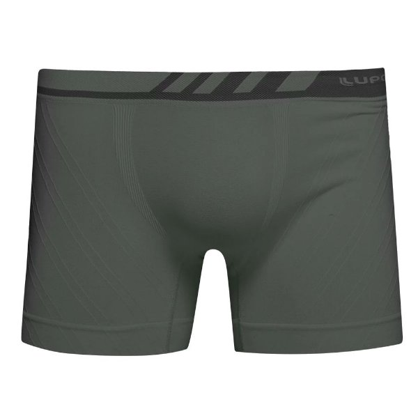 Cueca Boxer Sem Costura Microfibra - Chumbo - Lupo