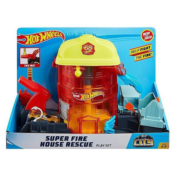 Hot Wheels Super Quartel dos Bombeiros - Laranja - Mattel