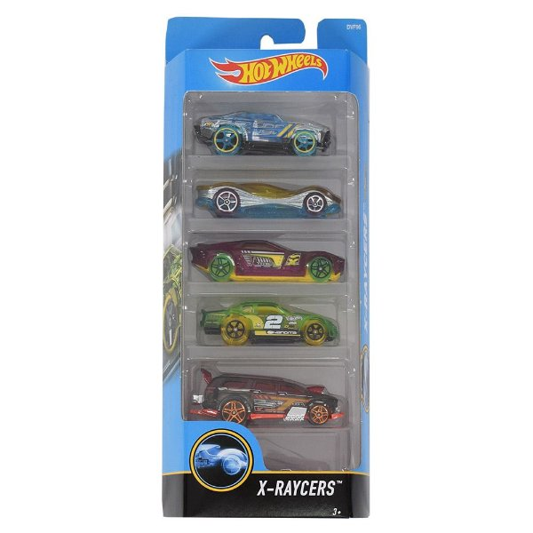 Kit Hot Wheels 5 Unidades - X-Raycers - Mattel