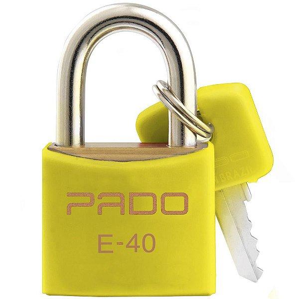 Cadeado Com Chaves Colors - E 40mm - Amarelo - Pado