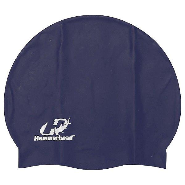 Touca de Silicone Premium - Azul Marinho - Hammerhead