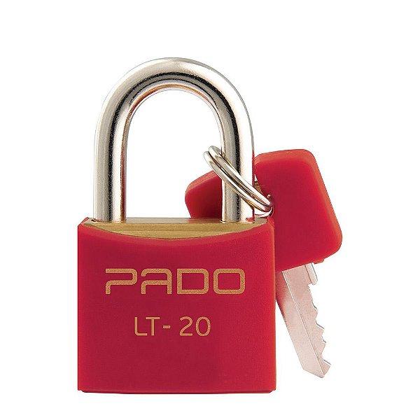 Cadeado Com Chaves Colors - LT 20mm - Vermelho - Pado