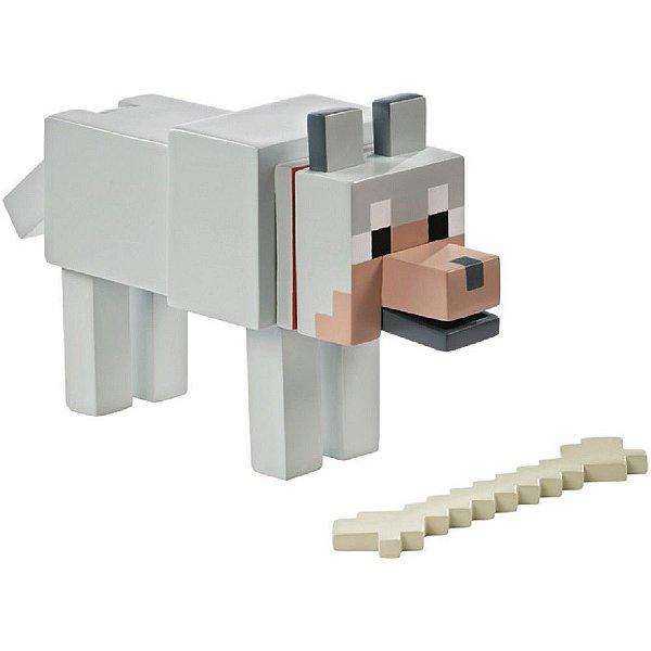 Boneco Minecraft Lobo Domesticável - Mattel