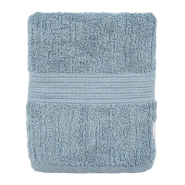 Toalha de Rosto Canelada Fio Penteado - Azul Claro - Buddemeyer